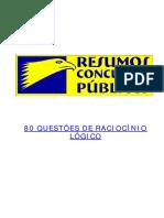 Raciocinio Logico 80 Questoes com gabarito Flavio Nascimento Resumos Concursos.pdf