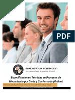 Uf0584 Especificaciones Tecnicas en Procesos de Mecanizado Por Corte Y Conformado Online