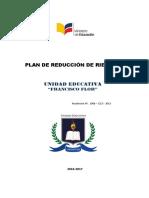 Plan de Reduccion de Riesgos u. e. Francisco Flor 2016-2017
