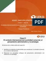 Clase 01 El Contexto Internacional de La Actividad Comercial El Pensamiento Administrativo y La Estrategia