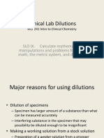 Clinical Lab Dilutions