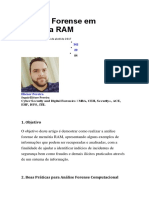 Análise Forense Em Memória RAM