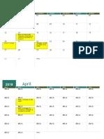 Planificacíon muestreos 2018