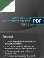 Ways to Detect Counterfeit Philippine Peso Bill