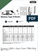 Aircon Window Type_Koppel H-Series