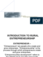 Introduction to Rural Entrepreneurship