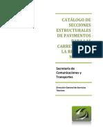 Catalogo Secciones Estructurales de Pavimentos