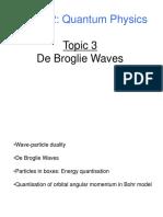 UNIDAD 3, De Broglie Waves