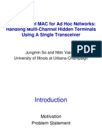 Multi-channel MAC for Ad Hoc Networks