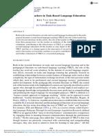 Role of Teachers in Taskbased Language Education