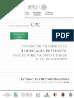 Hemorragia Postparto 2018 CENETEC