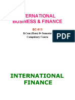 Introduction to International Business & Finance