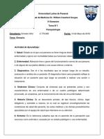 Tarea N°1 - Fisiopatología - Glosario