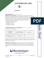 Spanish Latin American EZ-Hydro Shot Product Insert