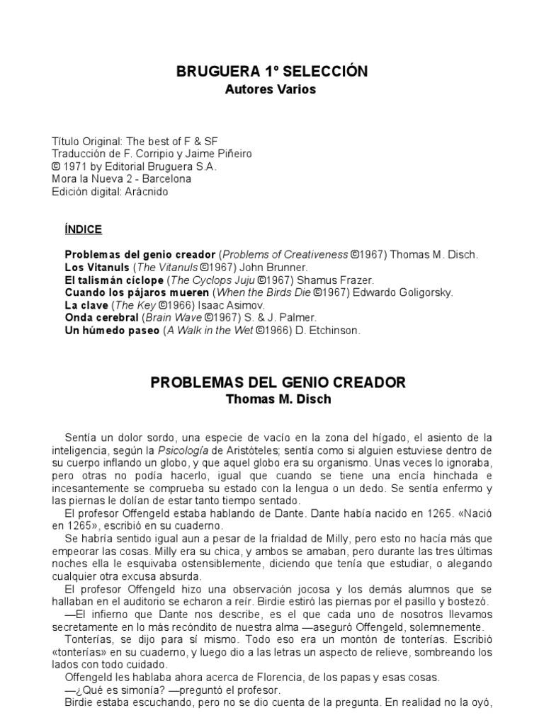 Selección de cuentos de ciencia ficción - 01 - Bruguera