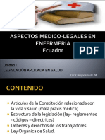 Legislacion Aplicada en Salud- Unidad I