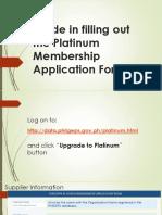 Platinum Membership Guide