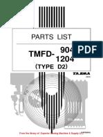 Tajima TMFD 904