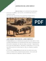 Proceso de Elaboración Del Lomo Ibérico Embuchado