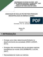 Associação de Células Peltier para geração de energia elétrica