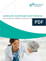 2009-Leading the Way Through Social Enterprise- The Social Enterprise Pathfinder Programme Evaluation