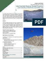 CH RF US Lake Coachella Reservoir Rockfall Protection California