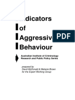 Indicators of Aggressive Behavior
