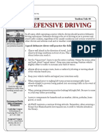 Toolbox Talks Defensive Driving English