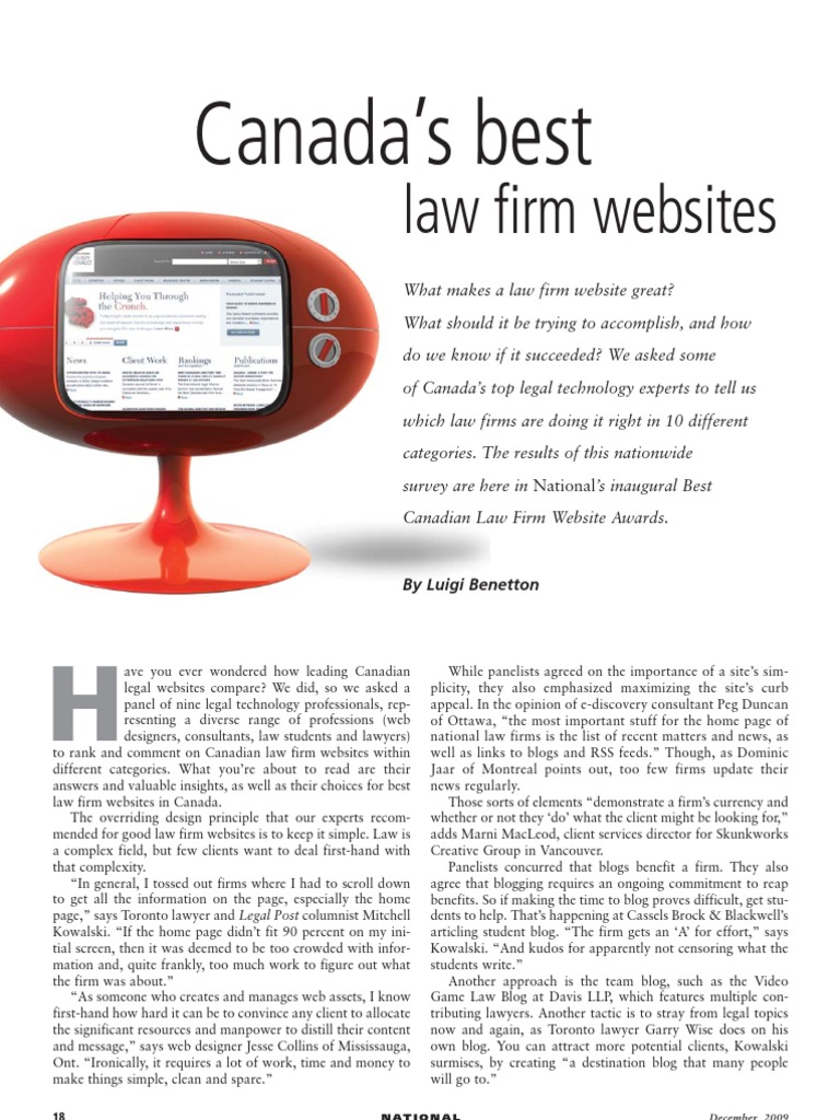 Canada's Best Law Firm Websites | Blog | Lawyer
