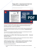 Clearias.com-UPSC Question Paper 2018 Download Civil Services Preliminary Exam 2018 General Studies Paper 1 Quest