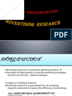 Advertisement Research