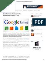 Cara Buat Form Di Googles Docs