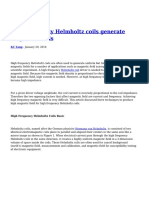 High Frequency Helmholtz Coils Generate Magnetic Fields (1)