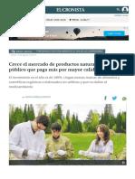 Crece El Mercado de Productos Naturales Por Un Público Que Paga Más Por Mayor Calidad _ El Cronista