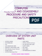 Disassembling System Unit Procedure and Safety Precautions