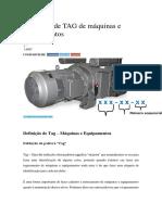 Definição de TAG de Máquinas e Equipamentos