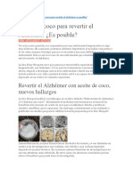 Aceite de Coco Para Revertir El Alzhéimer
