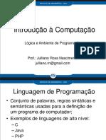 1.2 Prática - Conceitos Preliminares Lógica e Ambiente de Programação