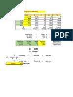 Calculo de Poblacion m. Parabola y Incrementos Variables