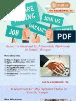 Fresher Jobs in Sonipat