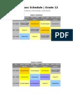 SHS Class Schedule 2018