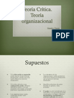 Teoría crítica-teoría organizacional