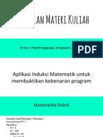 13.Aplikasi Induksi Matematik