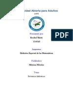 Actividades Didactica de Las Matematicas. Rosibel