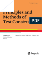 Methods of Test Construction