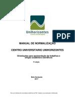 Manual de Normalização Faculdade Novos Horizontes 9.Ed . Atualizado