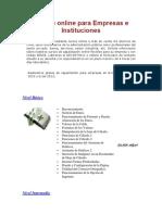 Cursos Online Para Empresas e Instituciones