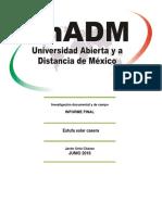 Informe Final Investigación Documental y de Campo Estufa Solar Casera