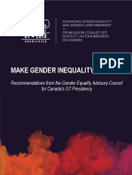 Recommendations by the Gender Equality Advisory Council