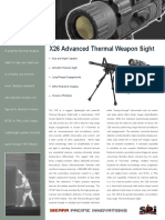 x26 Thermal Rifle Scope Datasheet